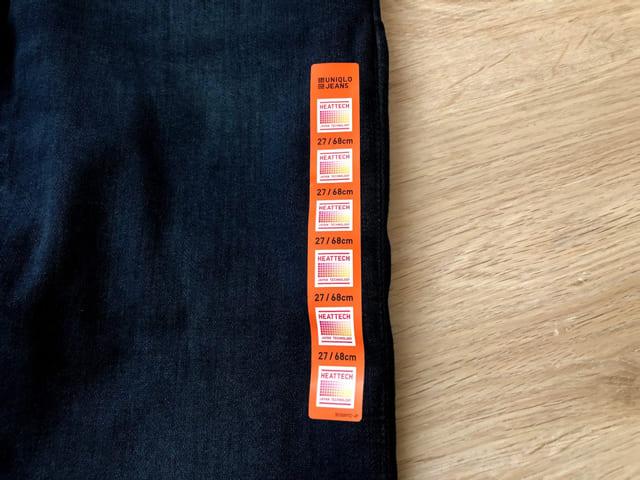 ヒートテックジーンズ サイズ