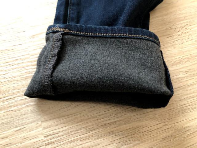 ヒートテックジーンズ 裾