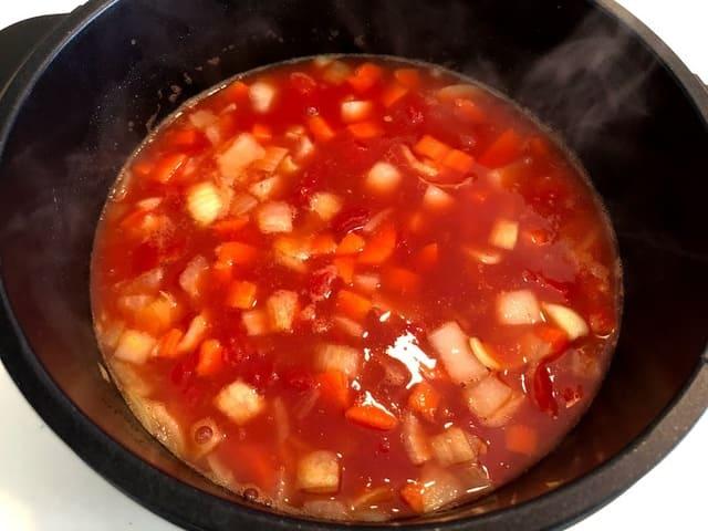 ブイヤベース スープ作り