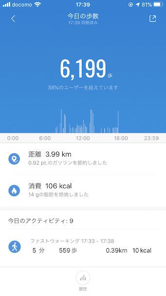 Mi Band4 歩数計
