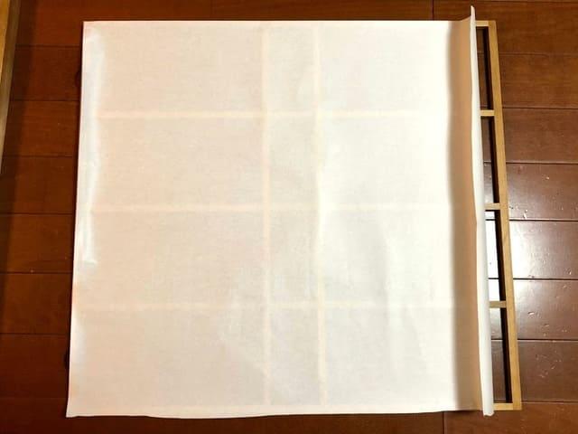 障子紙 広げる
